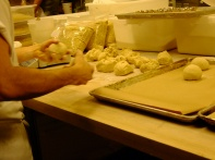 kneading and forming the brioche dough