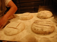 finishing stroke for the baking process